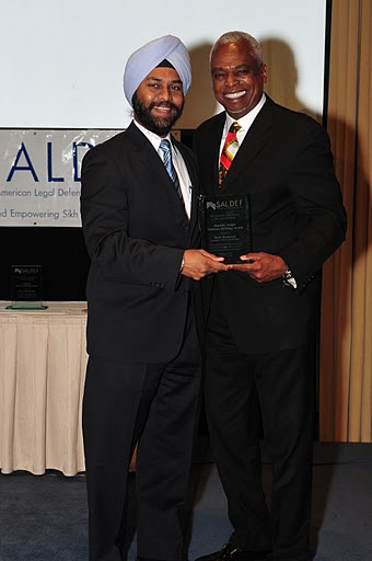 Wade Henderson receiving the Dorothy Height Coalition Building                                  Award
