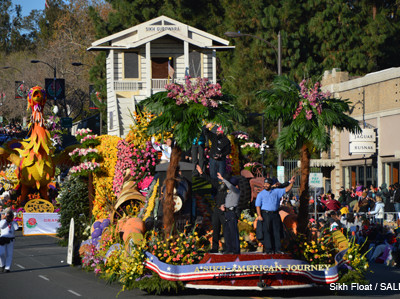 Sikh Float at the Rose Parade