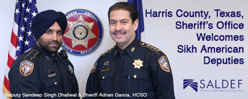 Harris County Sheriff's Office Welcomes Sikh American Deputies